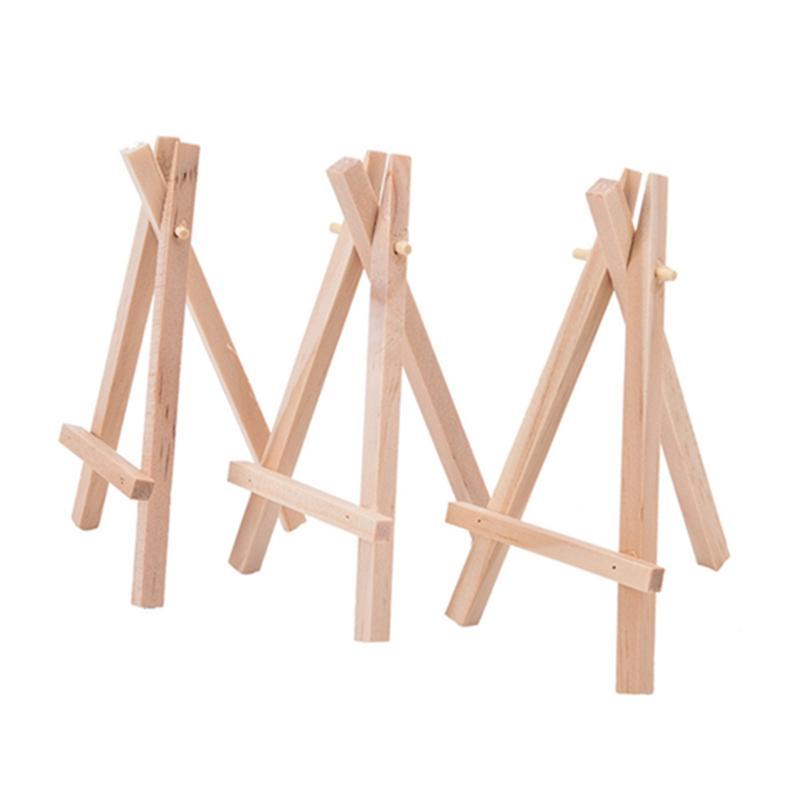 8x15cm الطبيعية خشبي ترايبود البسيطة الحامل البسيطة عرض موقف لحفل الزفاف مكان اسم حامل مجلس القائمة