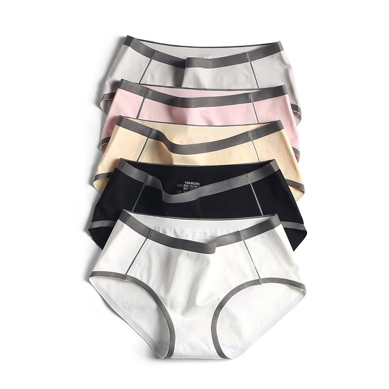 7 цветные моды белье женское белье бесшовные ультратонкие нижнее белье простые женские хлопковые трусики близкие дамы трусы штаны 1-3 шт.