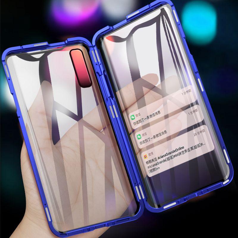 Магнитный телефон чехол для Samsung Galaxy S20 Ультра Примечание 10 Pro A51 A71 A50 A70 A7 A8 Металлический бампер A90 5G S20FE S10 Glass Case