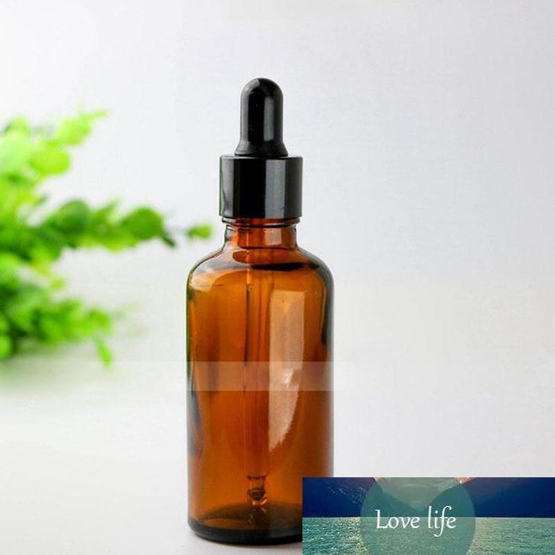 352pcs / lot Vider gros Bouteille en verre E liquide de bouteilles de verre ambré Dropper cosmétiques pour aromathérapie Livraison gratuite