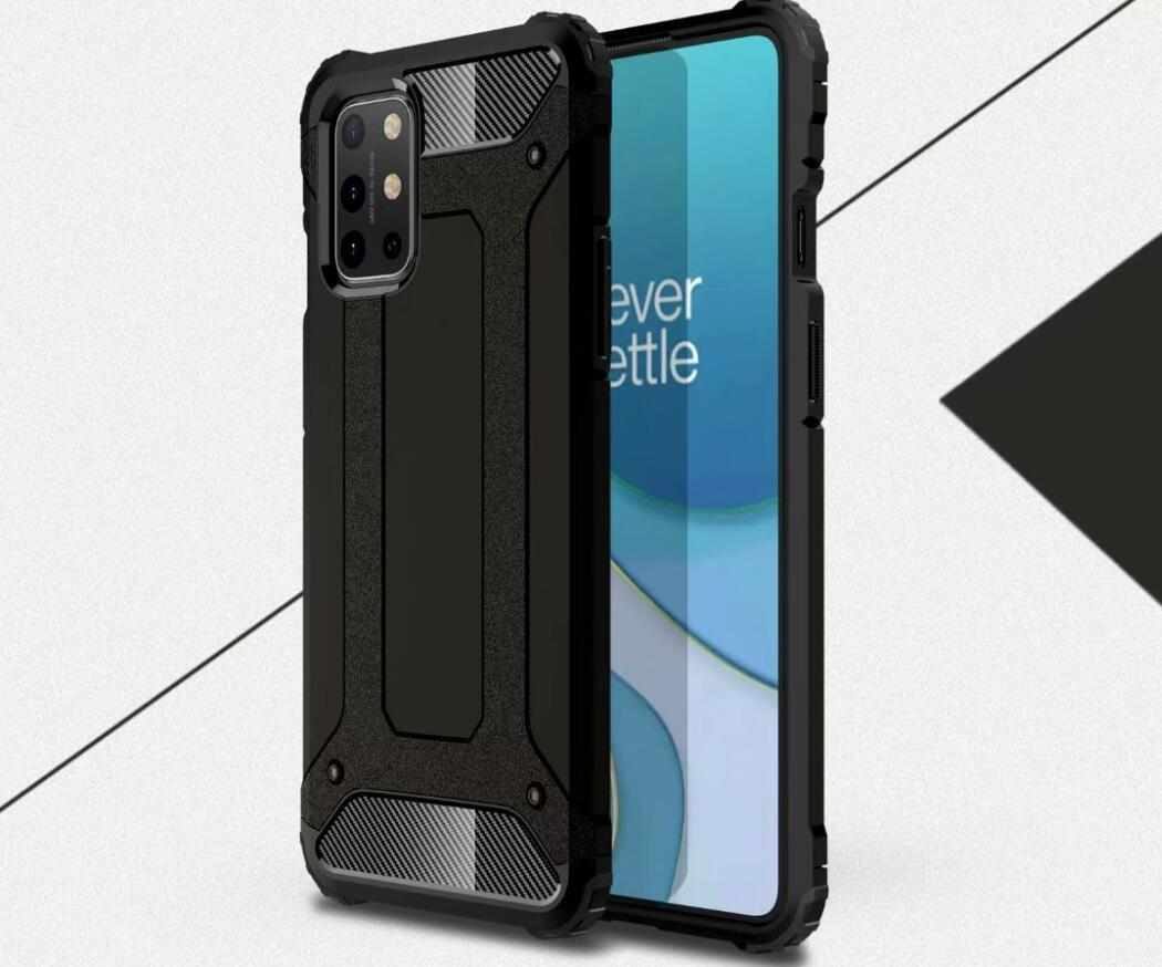 For Oneplus 8T Case Simple Stand Rugged Combo Hybrid Armor Bracket Impact Holster Protective Cover For Oneplus 8T