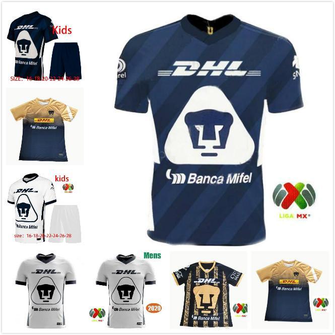 \ Libero DHL spedizione 2020 2021 Messico Unam Home Kids Club Universidad Nacional Soccer Jerseys Castillo 20 21 Camicie futbol Camicie da allenamento