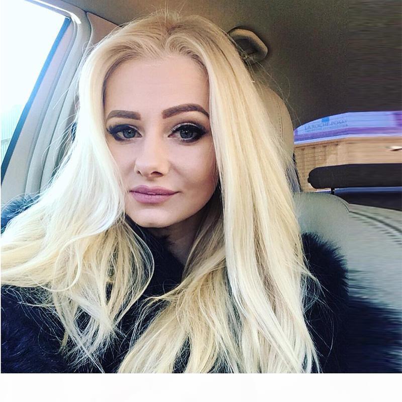 Volle Spitze-Menschenhaar-Perücke blonde gerade Jungfrau-peruanisches Haar Glueless Blonde 613 Lace Frontal Perücken brasilianische Remy für schwarze Frauen
