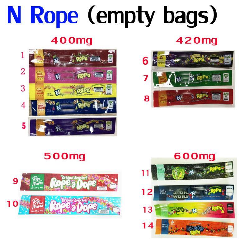 400 420 500 600 mg n Cuerda Un olor a droga Paquete Paquete Paquete Infused Candy Edibles Embalaje Mylar Bolsa