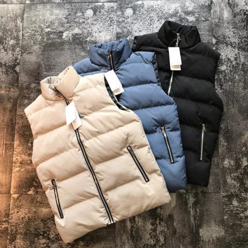 Collier de laine de coton chaud de Hommes Down non un chapeau gilets gilets sans manches vestes sans taille gilets matelassés Hommes Winter gilets Outerw Best-Selling