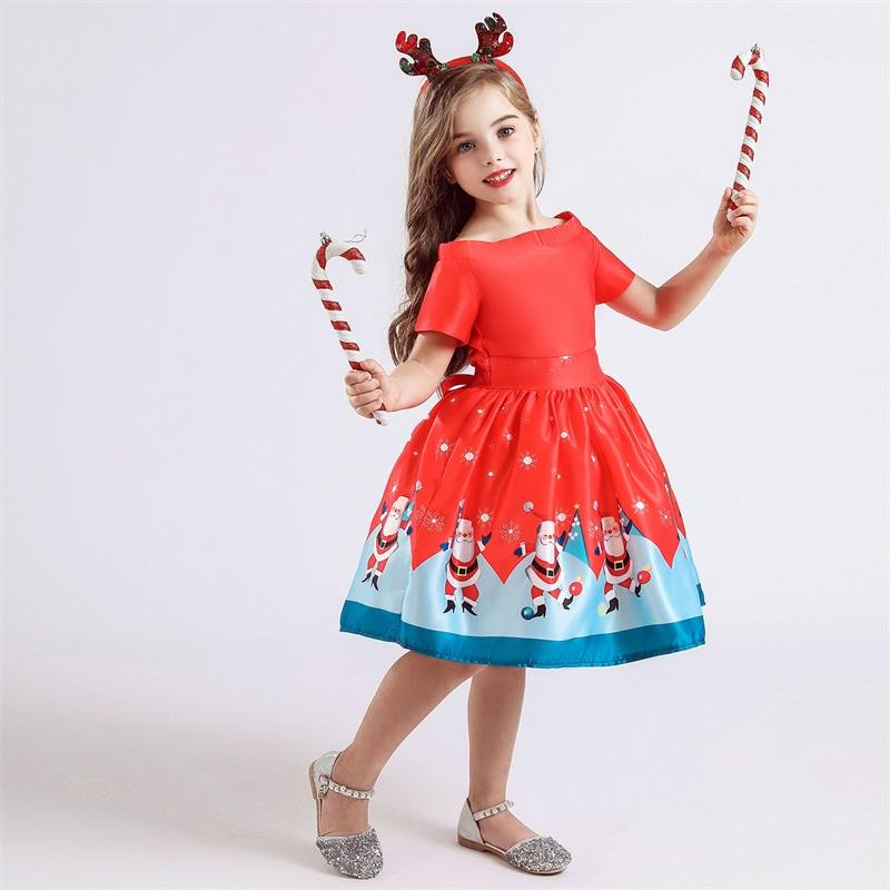 Baby Kleidung Kinder Kleider für Mädchen Weihnachtskleidung Santa Claus Princess Kleid Neues Jahr Partei Kinder Cosplay Kostüm