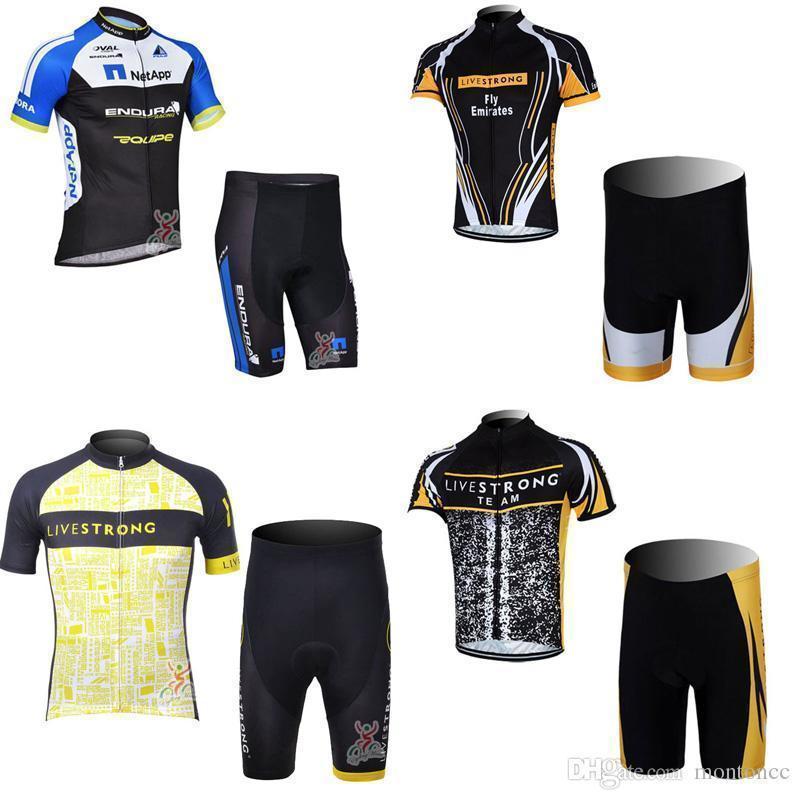 2020 Maniche Livestrong Netapp cicla breve maglia Pantaloncini Imposta prezzi all'ingrosso Godetevi qualità degli uomini bici Clothes C2223 Alta
