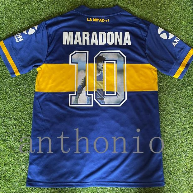 قمم 20/21 الرجعية Boca Juniors Soccer Jerseys Diego Maradona 10 Riquelme Riquelme Cardona Jersey de Thailand كرة القدم قميص 2021 Medel Futbol Shirts الكلاسيكية كيت حجم S-XXL