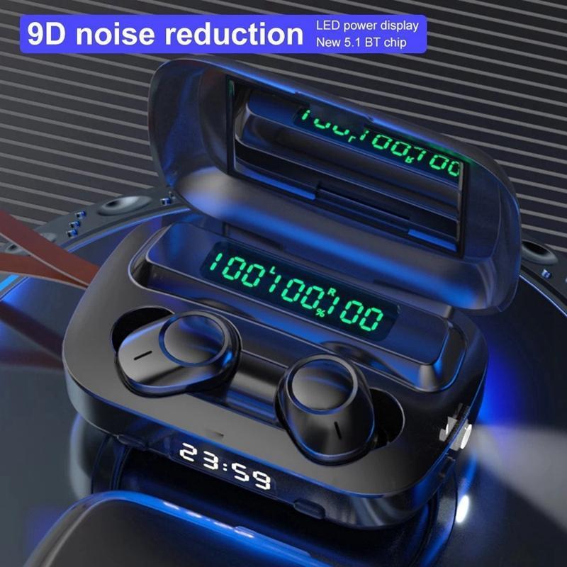 Telefonlar için Mic Spor Kulaklık Basın Kontrol Müzik kulaklıklarla Bluetooth 5.1 tws Kulaklık