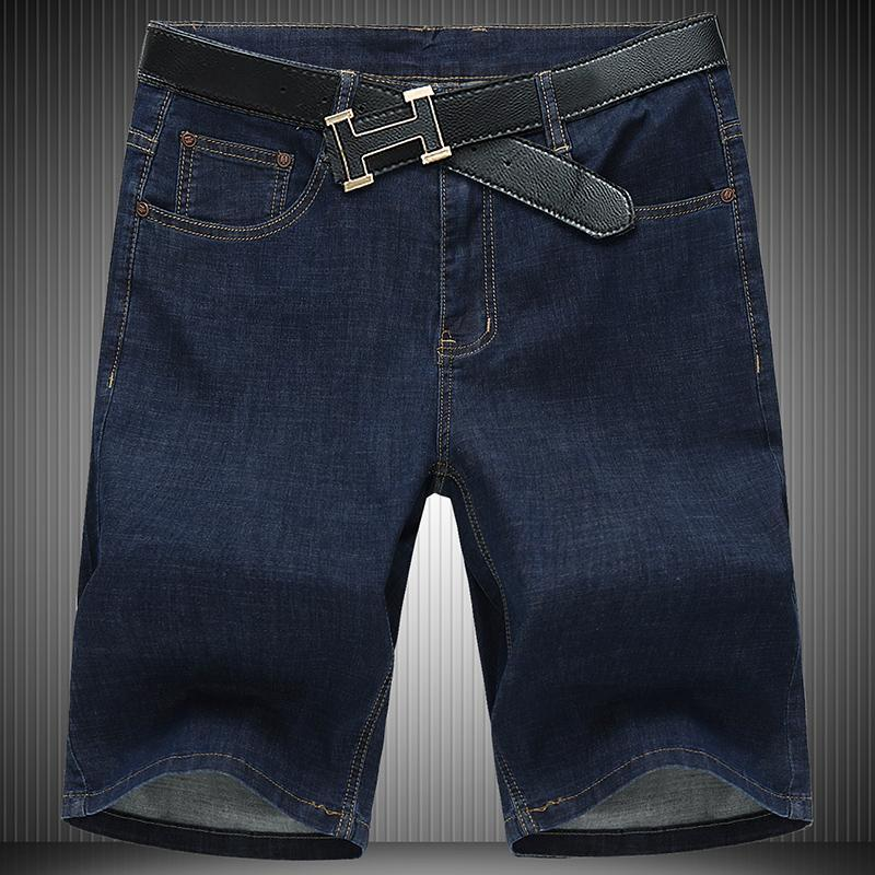 Men Hot 2020 Summer Jean Oversized 52 54 56 New Fashion Men's Stretch Short Jeans Casual Elastic Cotton Denim Shorts Pants 1388