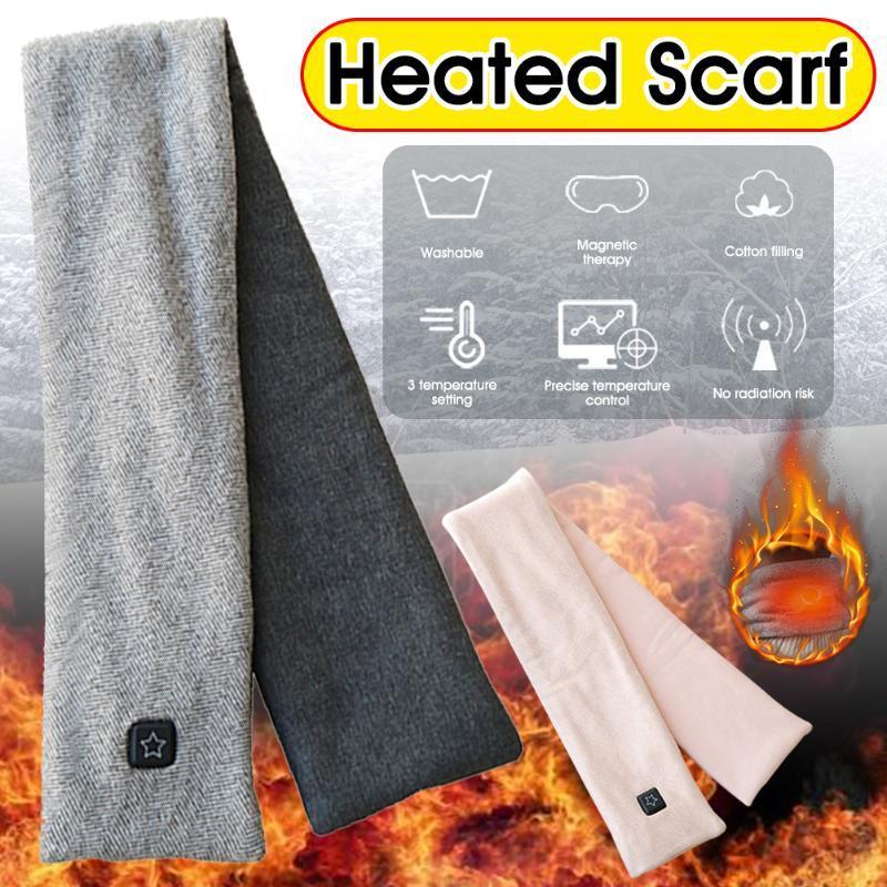 Beheizte Schal-Winter-warme Ansatz-Verpackung 3 Temperatureinstellungen Wiederaufladbare waschbar Schal