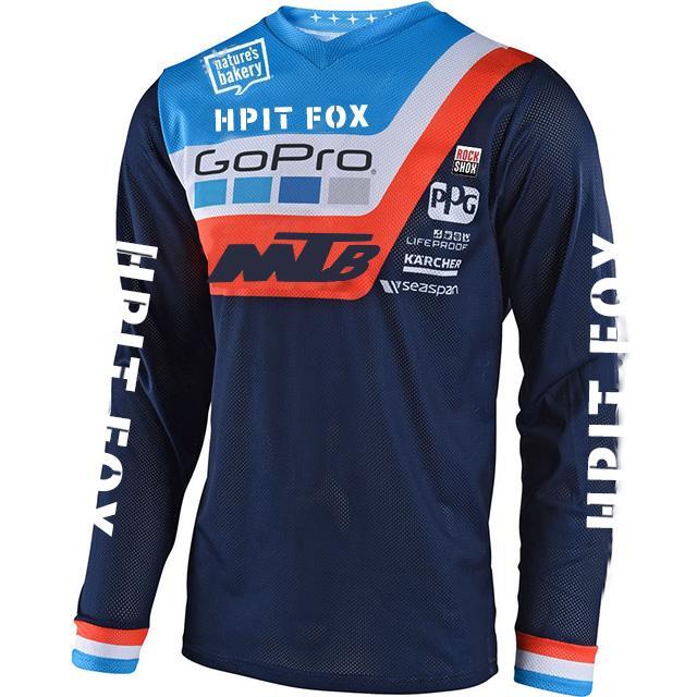 2020 мотоцикл Джерси горного велосипед команда спуска MTB Offroad DH MX велосипед локомотив рубашка Джерси горного велосипеда по пересеченной местности
