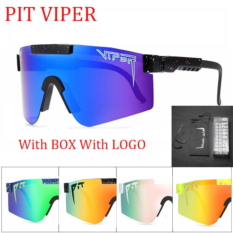 Red Wide Viper Nuevas gafas de sol Pit Double Wides TR90 Rose Polarized Diffeored Lens Brand LCKRF