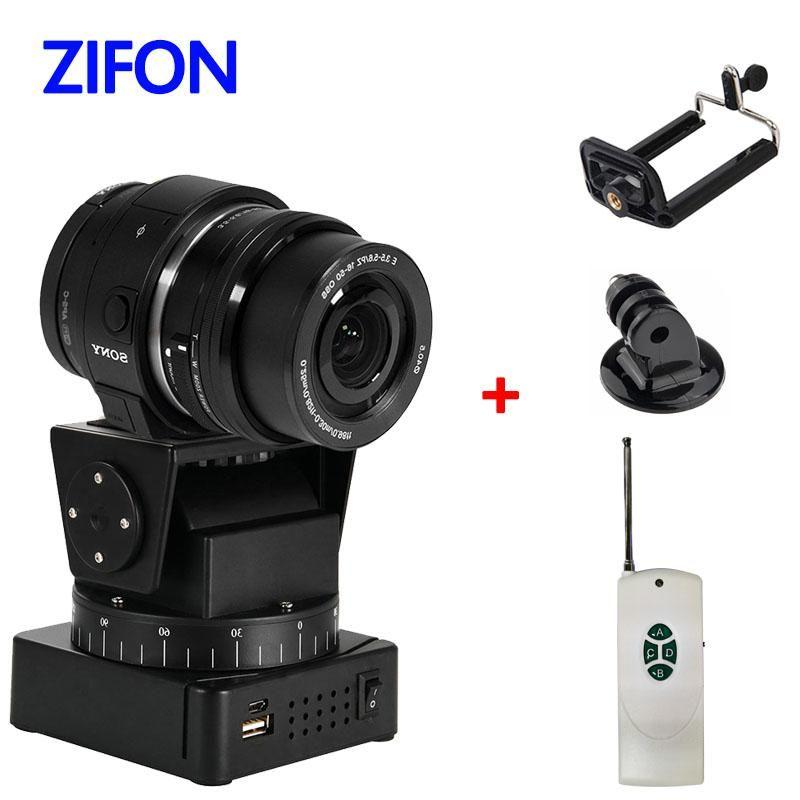 ترايبود رؤساء Zifon بمحركات التحكم عن بعد عموم مقلاة YT-260 مع محول جبل للكاميرا المتطرفة WiFi والهاتف الذكي