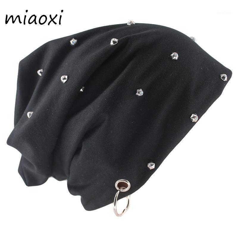 Miaoxi Neue Stil Mode Herbst Warme Mützen Skullies Perle Ring Lässig Erwachsene Männer Frauen Gorras Marke Hip Hop Weibliche Motorhaube Hat1