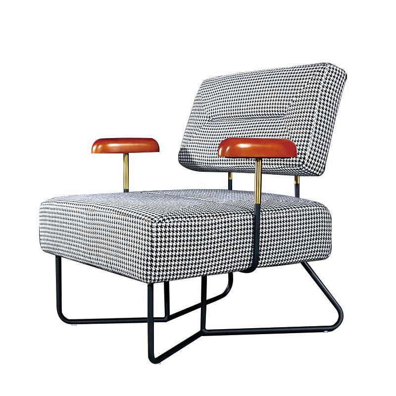 أزياء كراسي غرفة المعيشة مع الأسلحة الحديثة مربع كرسي الترفيه بذراعين الأثاث مخصصة للمكتب