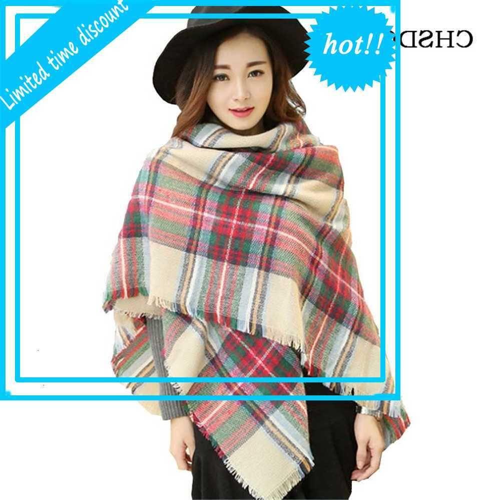 Winter Soft cashmere Long Warm scarf blanket wraps Wool Women Pashmina scarves Oversized Wholesale J051
