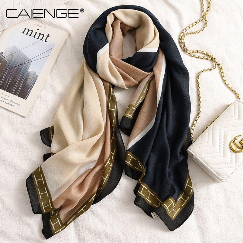 Primavera e Outono-Inverno de algodão e cânhamo lenço das mulheres de moda estrangeira xale versátil dual-purpose longa fina seda lenço versão Bib coreano