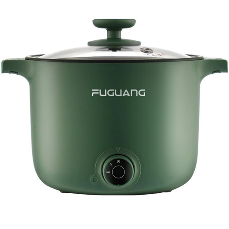 220 فولت 1.5l المنزلية الكهربائية مقلاة غير عصا طباخ الأرز المحمولة متعددة طباخ المعكرونة الطبخ وعاء أحمر / أخضر اللون