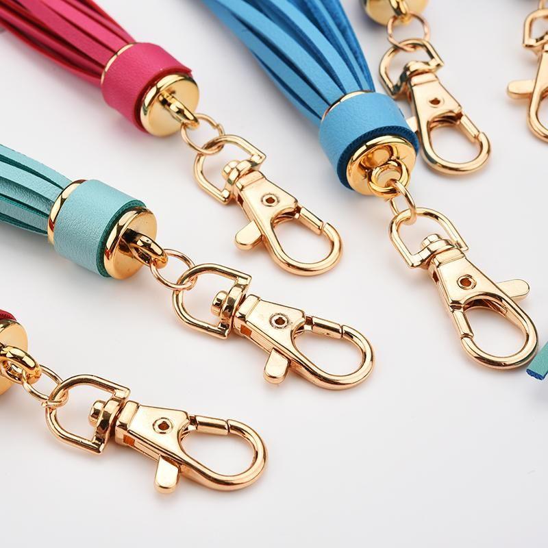 Fashion Pu Leather Tassel Women Keychain Bag Pendant Alloy Car Key Chain Ring Holder Retro Jewelry Acessory Eh388 H jllMWt