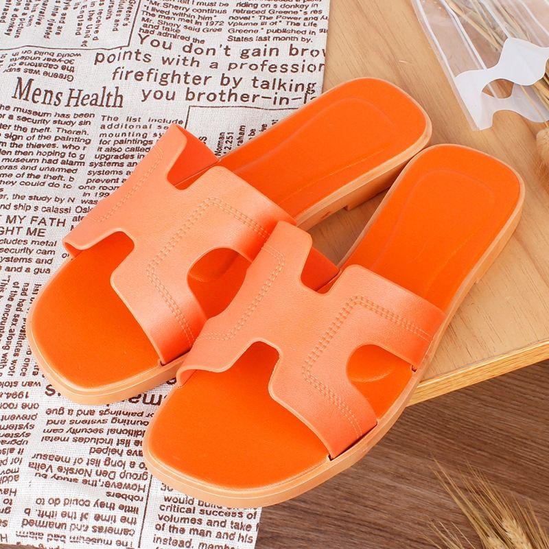 01owp Summer Beach Shoes and SandalsWomen's Verano Coreano Color Puro Personalidad Sandalias Inicio Indoor Antidkid Sandals Sandalias Mujeres Playa de mujer