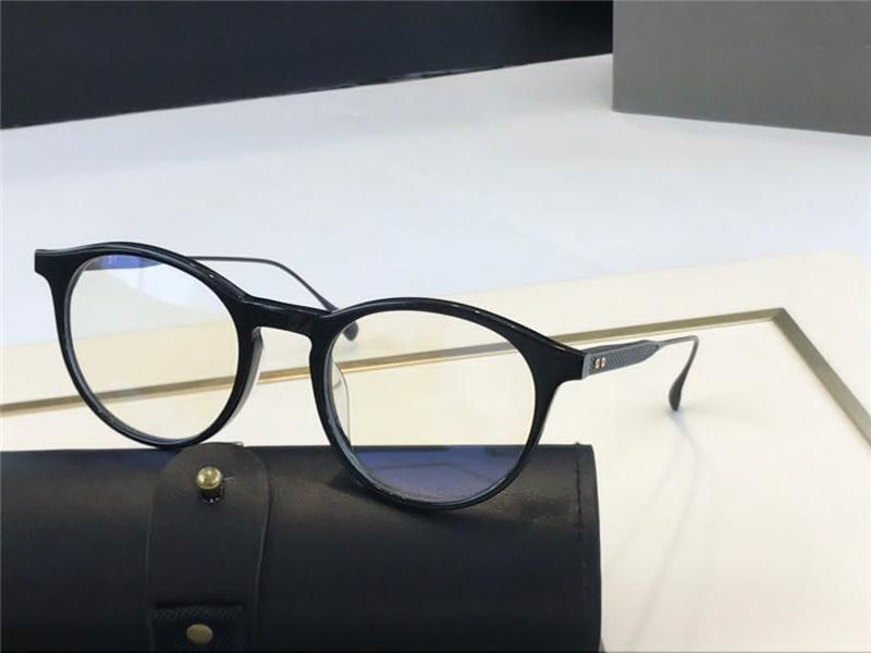 DTX507 uomini e donne c di vetro del metallo Retro occhiali di vetro ottici di modo di stile piastra e Metal Templi ovale completa copertura frame UV 400 lenti