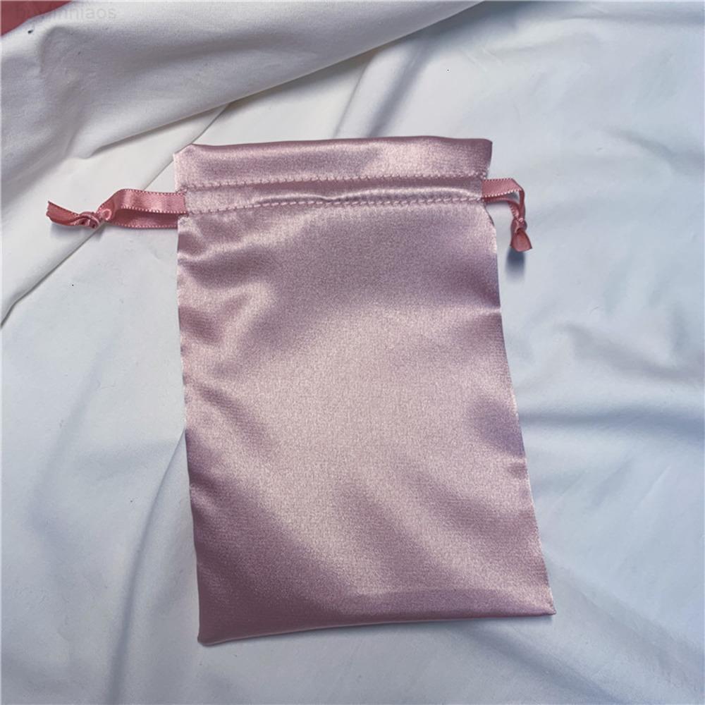 Bolso de cordón de satén cosmético, tela de seda, joyas, máscara, embalaje, bolsa de máscara de ojos, bolso de la cinta, bolsa de almacenamiento conveniente 2