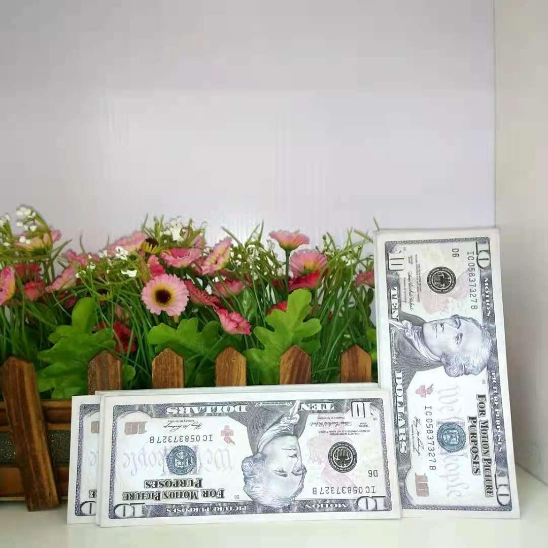 Meilleur Billet de banque Dollar Dollar PARTY DE QUALITÉ 10 MONDAIRE DE MONDAIRE NOUVEAU FAIS PROP CADEAU ENFANTS 007 JOUE JOUET BANKNOTE RNMQB