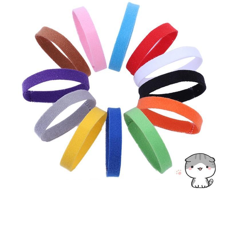 Welpen-ID-Kragen-Identifikation-ID-Halsband-Band für Welp-Welpe-Kätzchen-Hunde-Haustier-Katze-Samt-Praktische 12 Farben 386 N2