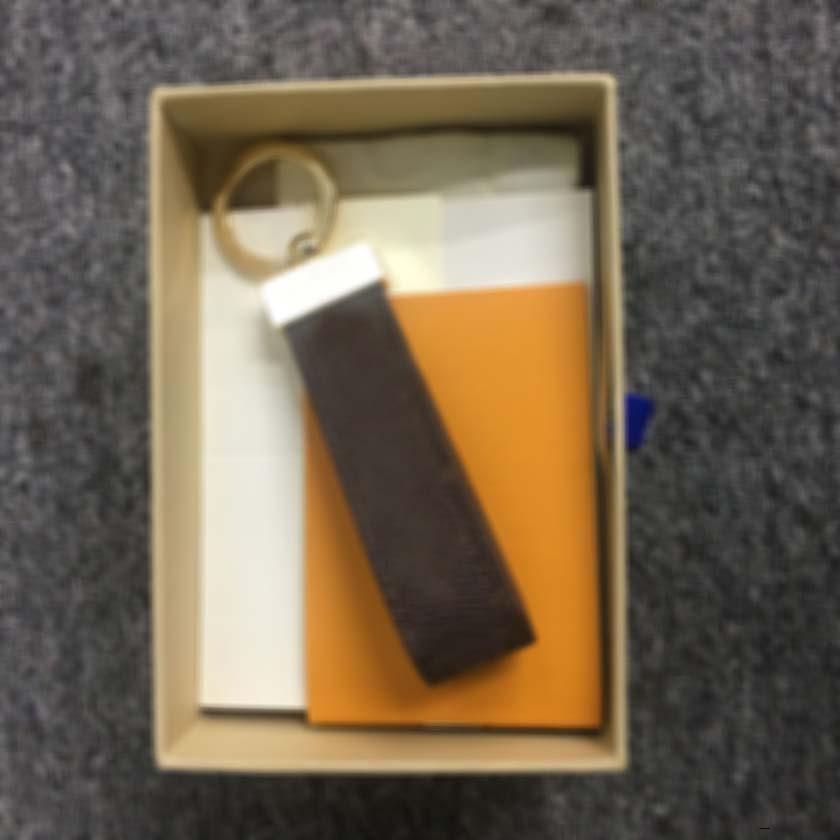 Leder Schlüsselanhänger Schlüsselanhänger L Buchstasche Mode Key Ring Lanyard Nette Schlüsselmappe Kette Seilkette Portachiavi mit Box EZWM