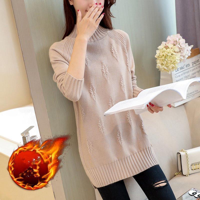 Donne maglione maglione pullover autunno inverno vestiti invernali coreano solido manica lunga tirano caldo mezzo torta dolcevita maglione femmina jumper top