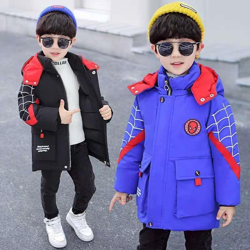 Niños chaqueta de invierno niños cálido abrigo niño grueso parka niños invierno ropa de dibujos animados imprimir ropa exterior para Rusia -30DEXE 201102