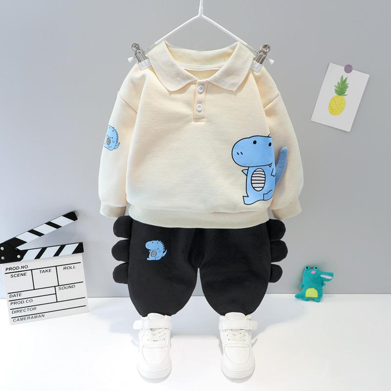 Coat Pantalones ZWY489 Nueva Otoño Invierno ropa de los niños del bebé muchachas de la historieta 2pcs / sets del niño Niños ropa gruesa caliente TracksuitX1019