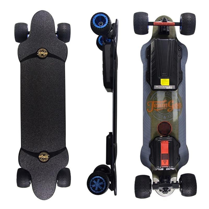 New Electric Scooter Off Road 4 Wheels Electric Scooters Double Drive H20T 36V Four Wheel Electric Skateboard With Rubber Wheels