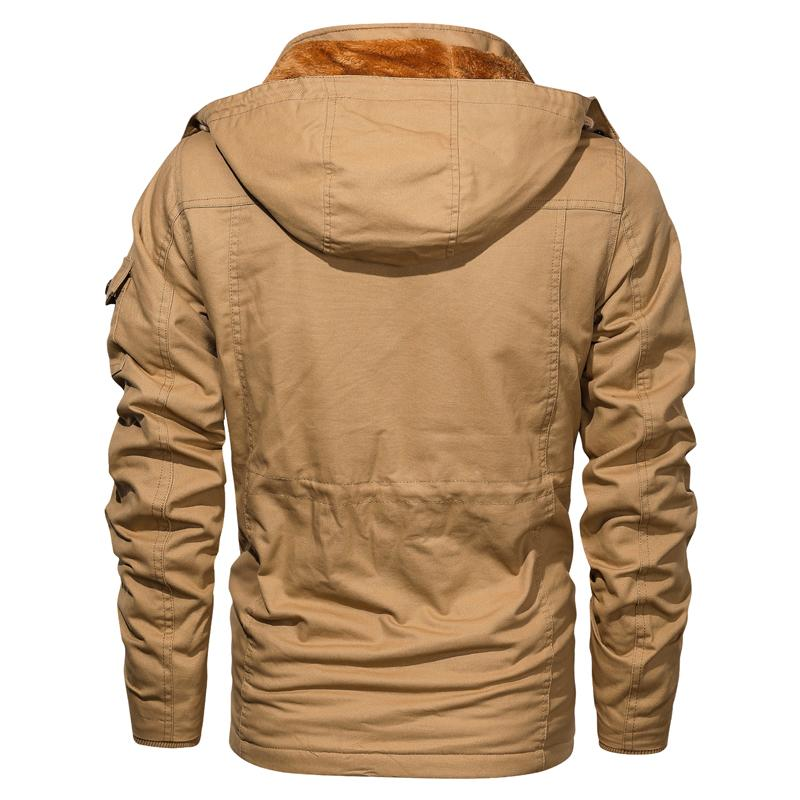 2020 Mens Winter Fleece Jackets Warm Hooded Coat Thermal Thick Outerwear Male Military Jacket Mens Brand Clothing