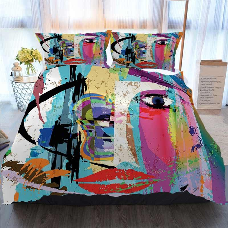 Paint Strokes Splashes Print Art Quilted Bedspread /& Pillow Shams Set