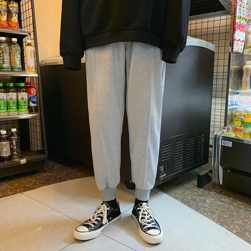 2020 Harem Siyah Harajuku Pantolon Koridorları Katı Sonbahar Erkek Külot Koşucular Streetwear Erkek Giysileri Ropa Hombre