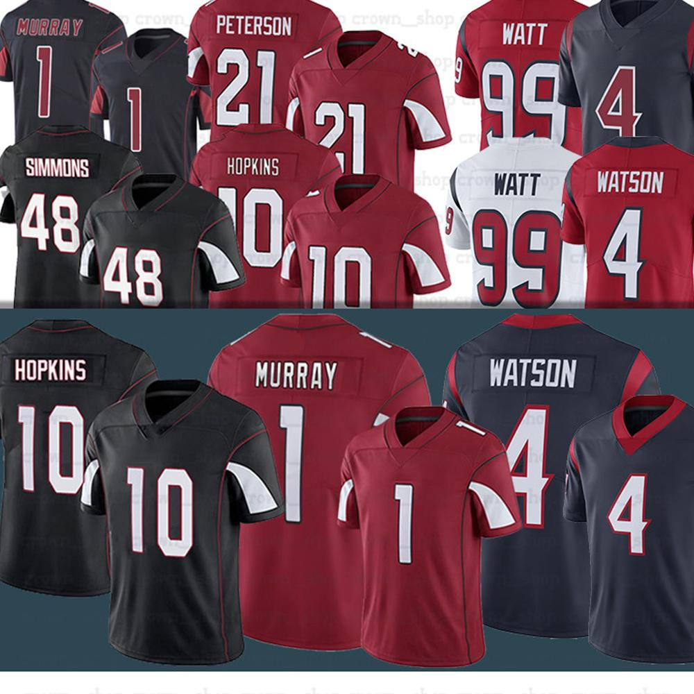 1 Kyler Murray 10 Deandure Hopkins 48 Isaia Simmons 4 Deshaun Watson 99 J.J. Jersey da calcio Watt 90 Ross Blacklock