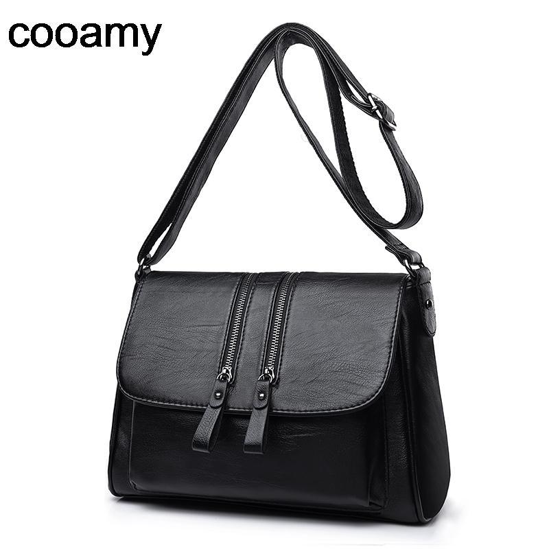 Women's Shoulder High Quality PU Leather Handbags Tote All-match Crossbody Top-handle Bags Shell Messenger Bag Q1107