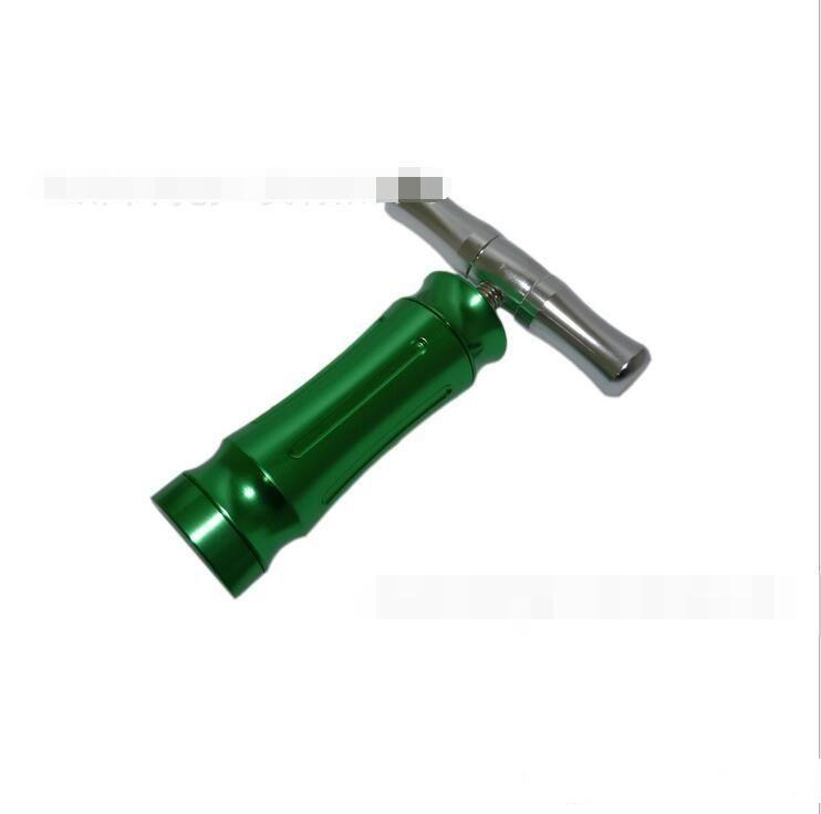 Neueste grünes Metall Pollenpresse Presser Compressor Sahne- und Schaum Werkzeug für Grinder klicken n vape Wachs trocken herb Verdampfer