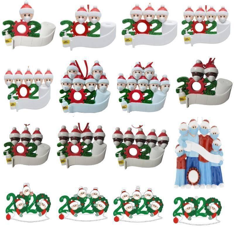 Fabrikpreis von FEDEX personalisierten Weihnachtsschmuck 2020 Quarantäne Ornamente Weihnachtsbaumdekoration Lieferung innerhalb von 72 Stunden