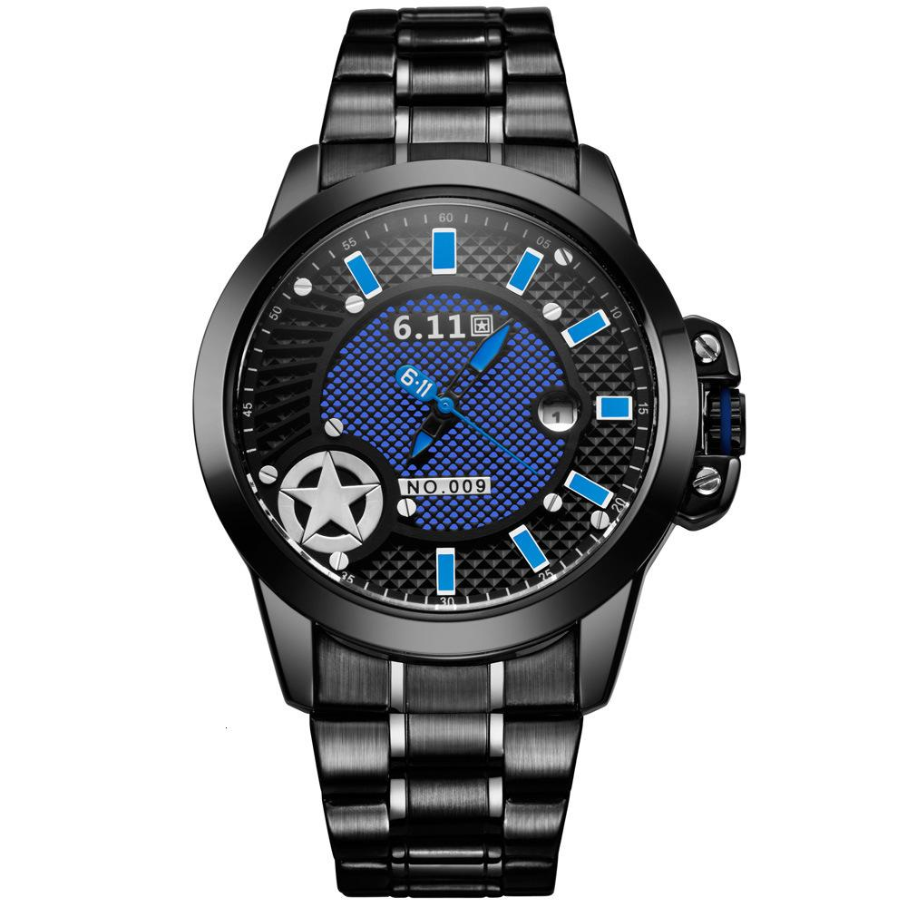 Reloj de banda de acero de hombres de onda ligera no-009.