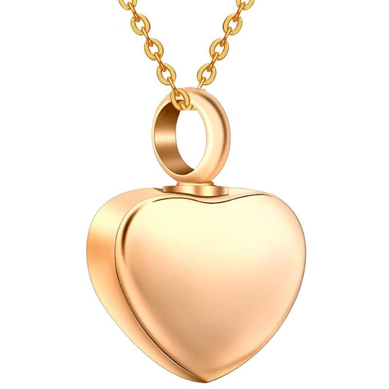 Vente en gros en acier inoxydable Mini coeur Médaillon crémation pendentif de souvenir de bijoux collier de cendres commémoratives, Dropshipping