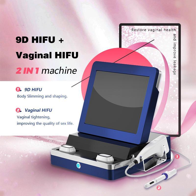 9D HIFU non invasif de facial de rajeunissement du visage soulève le serrage vaginal de la menton est à la hauteur la meilleure hadiffusion portable