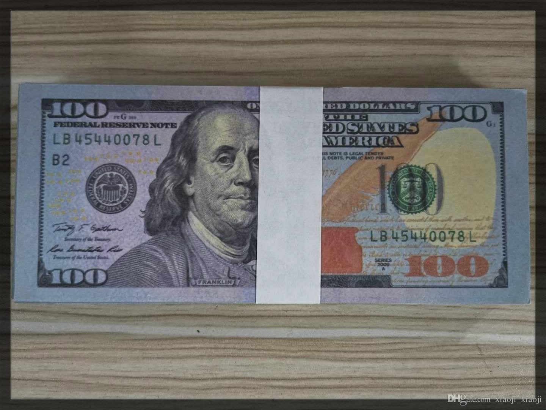 2020 Billet 5 nouveaux dollars argent dollar chaud faux vente apprendre argent éducation jouets US 11 100 Banknote bar access cinéma kqugh