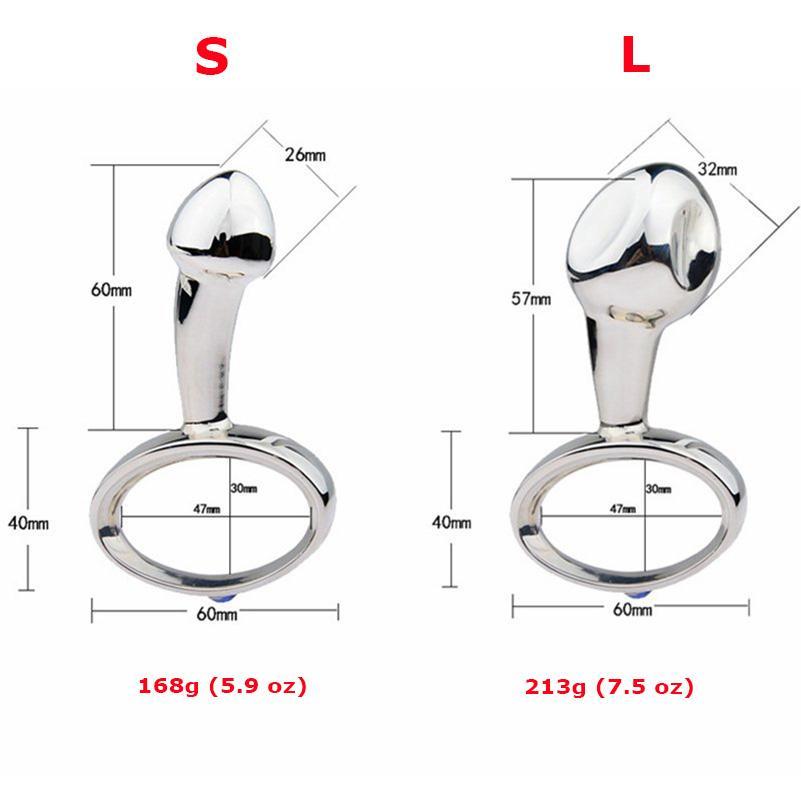 Tirez la bague anale pour la poignée en métal dilatateur Stimulation de la prostate Vagina G-Spot Massage Anus Homme Jouets Sex Toys Plug Femmes Femmes XXCDR