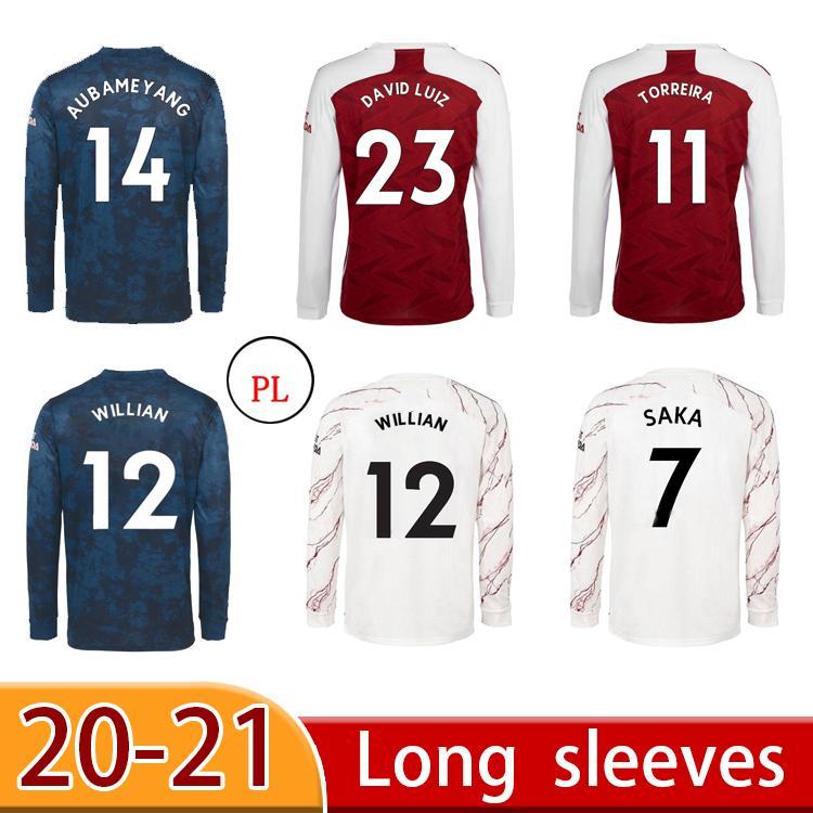 21 22 Saka Thomas Soccer Jersey Manga Larga Kit 2021 Pepe Nicolas Ceballos Henry Guendouzi Sokratis Willian Tierney Football Shirt
