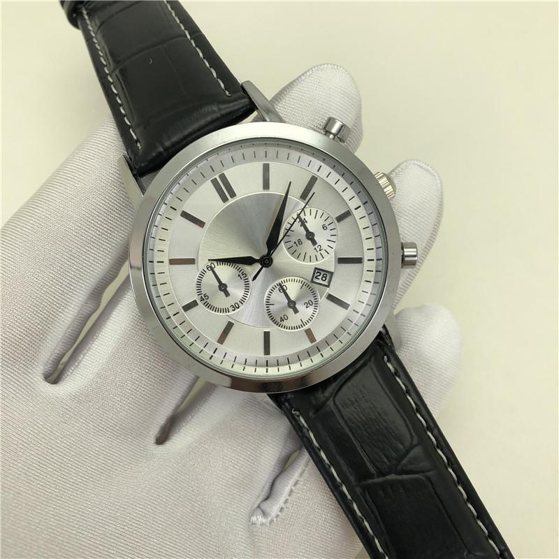 Sıcak Satış Lüks Erkek Saatler Tasarımcı Moda Saatler Erkekler Için Rahat Reloj De Pulsera Kuvars Saat Deri İzle Montre de Luxe Saatler