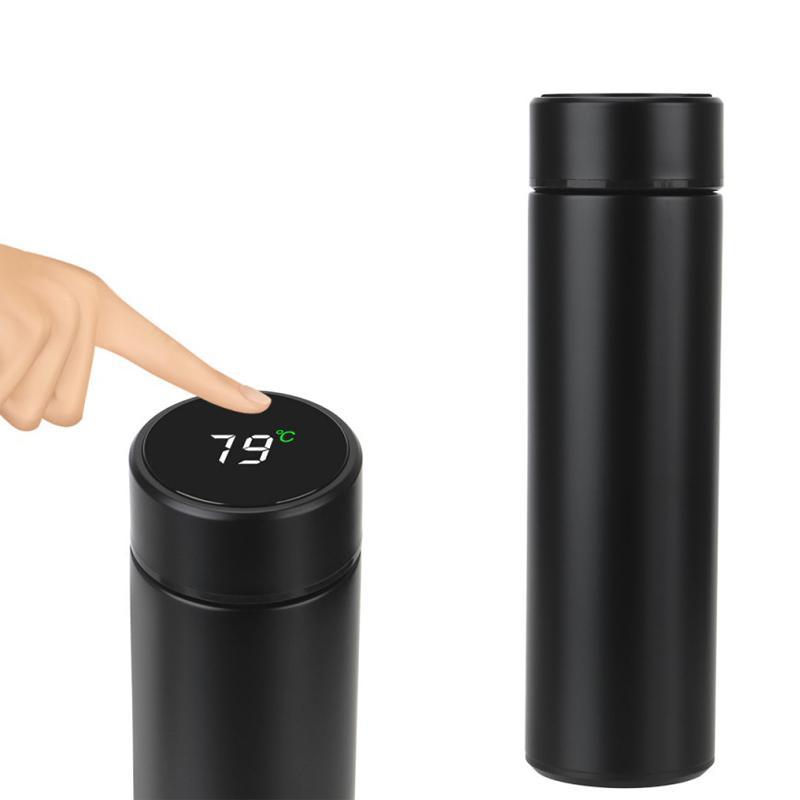500 мл бутылки с водой термос Термос Дисплей температуры бутылки умная нержавеющая сталь вакуумный кофе Путешествие тумблер утечки
