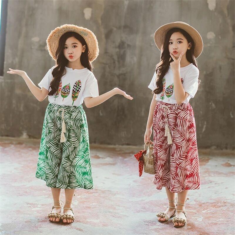 As meninas do verão põem a camisa de manga curta do bebé Top + shorts ternos crianças roupas impressas roupas infantis 2pcs y200325